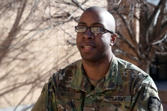 Profiles in Space - Spc. Byron Wright,  active duty to Army Reserve Soldier