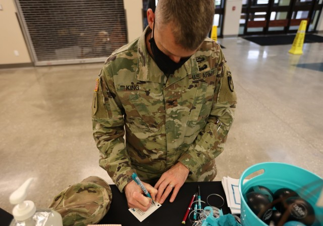 """Fort Knox Garrison Commander Col. C.J. King was joined by installation leaders, community members and Soldiers Wednesday for the """"I Pledge"""" campaign kickoff in honor of Sexual Assault Awareness and Prevention Month."""