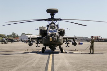 Marne Air Soldiers learn about new AH-64E Apache helicopter