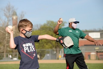 Youngsters learn basic baseball skills