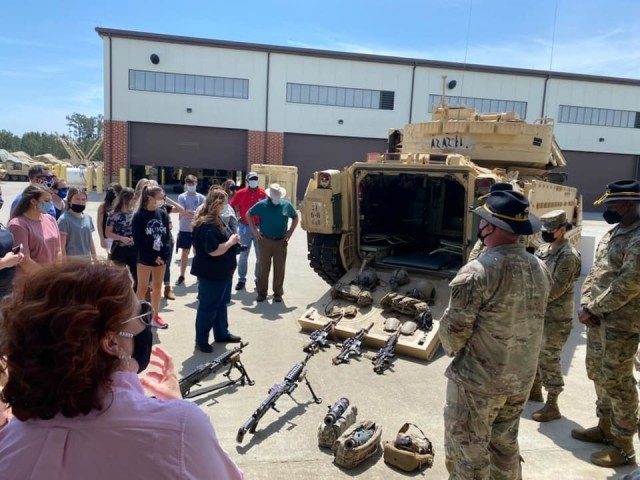 Members of various professional development fellowships, visited the 2nd Armored Brigade Combat Team, 3rd Infantry Division motor pool during a Combined Leadership Tour, April 8 on Fort Stewart, Georgia. The tour provided an in-depth look into the various missions and jobs performed by Fort Stewart Soldiers and civilians.
