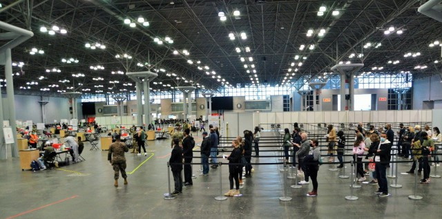 10K a day at Javits mass vaccination site in New York