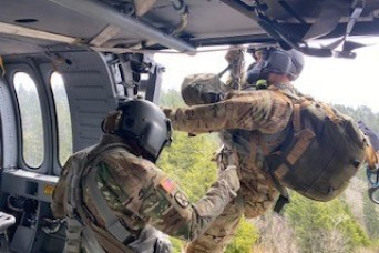 Tennessee National Guard aircrew rescues stroke victim