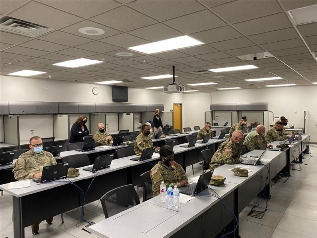 """""""Fort Riley, Kan. -- Senior Non-Commissioned Officers take the First Sergeant Assessment Battery, which measures cognitive and non-cognitive functions. This and other assessments are designed to help the Army better inform commanders and command sergeants major in aligning first sergeants to company-level organizations."""