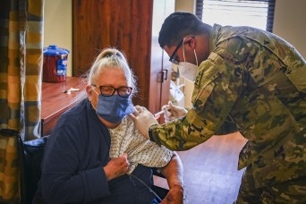 Connecticut Guard members vaccinate nursing home residents