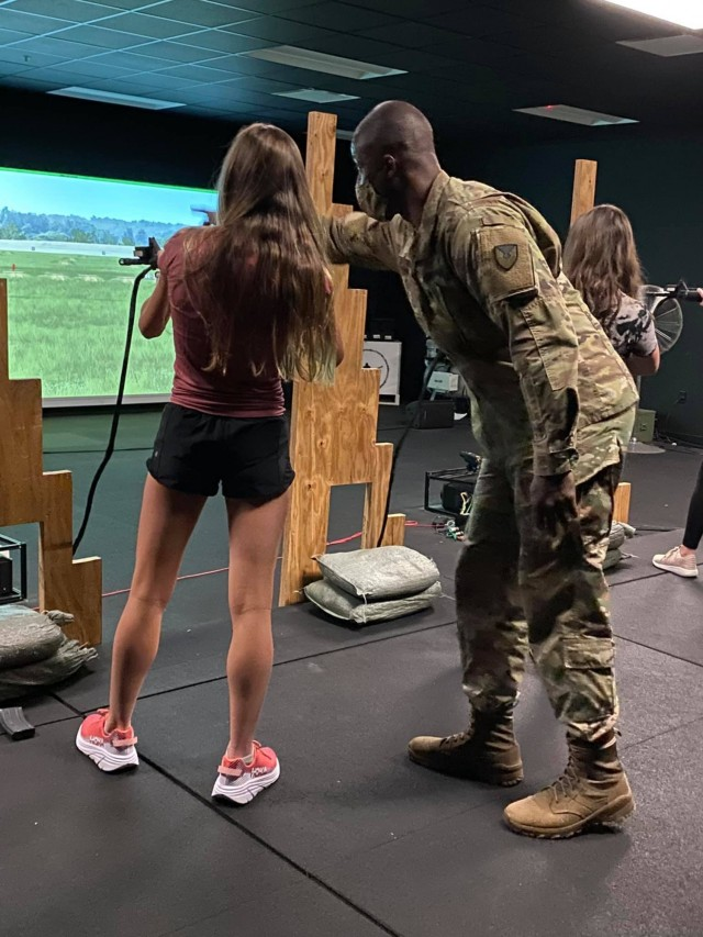 Staff Sgt. Omar Smith, a task instructor from 904th Contracting Battalion,