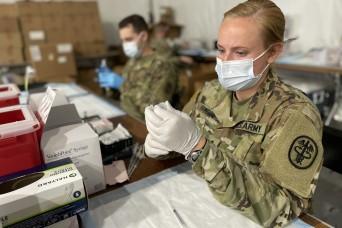 U.S. Army nurse supports Orlando Community Vaccination Center