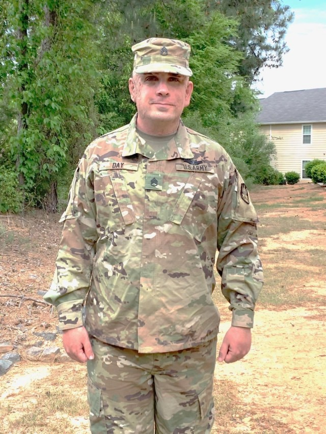 Staff Sgt. Robert Day, an Army Reserve NCO of 2nd Space Battalion's communication's cell, (S6) will be moving on soon to the 347th Training Regiment at Fort Gordon, Georgia, but hopes to make his way back to the 2nd someday. (Courtesy photo by Staff Sgt. Robert Day/RELEASED)