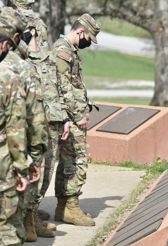 The 89 combat engineer and bridge crewmember trainees set to graduate Friday were given time before their cresting ceremony last week to look over the displays honoring the sacrifices of Army engineers at the Sapper Memorial Grove.