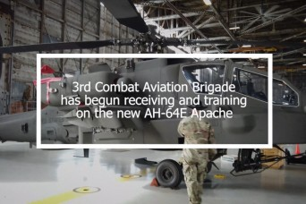 3rd Combat Aviation Brigade receives new AH-64E Apache helicopter