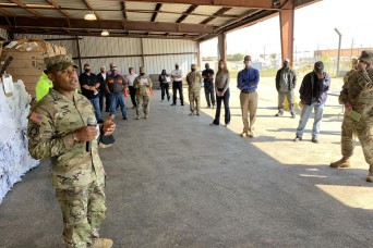 Leaders tour Fort Hood Recycle Center