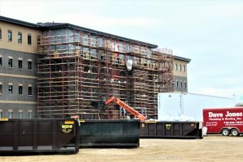 First Fort McCoy transient training barracks construction project surpasses 80 percent complete