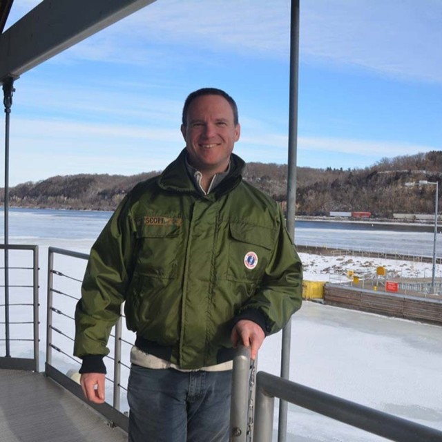 Jesse Scott, hydrological technician.