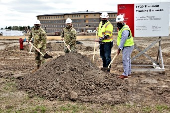 Ground-breaking ceremony held for newest barracks project at Fort McCoy