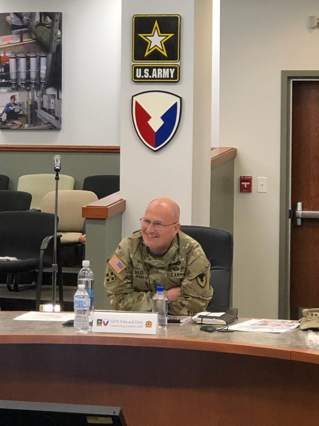 """AMC Commander, Gen. Daly, responded to the JMC team's Major Subordinate Command update saying """"Great things are going on in this command, I am honored to be part of this organization."""""""