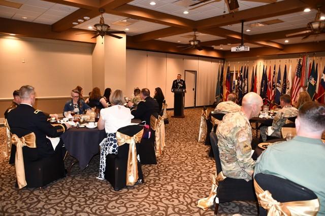 Col. Ryan K. Roseberry, Fort Polk garrison commander, was the guest speaker at the Volunteer of the Year ceremony held April 13.