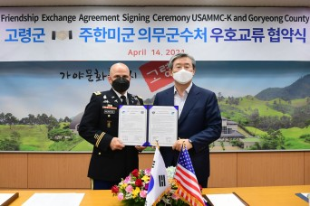 USAMMC-K signs friendship agreement, strengthens ties with Korean communities