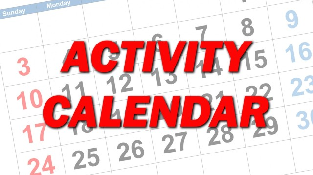 Fort Lee area activity calendar