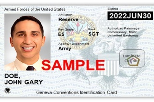 WIESBADEN, Germany - This is an example of the next generation DOD-ID. Individuals will be receiving this in the future. (photo credit: DOD, cac.mil)