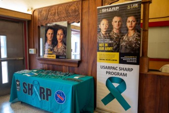Survivor of sexual assaults speaks at USARPAC's Teal Talk