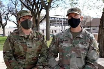 Married U.S. Army Combat Medics Support Federal Vaccination Efforts in Pueblo, Colorado