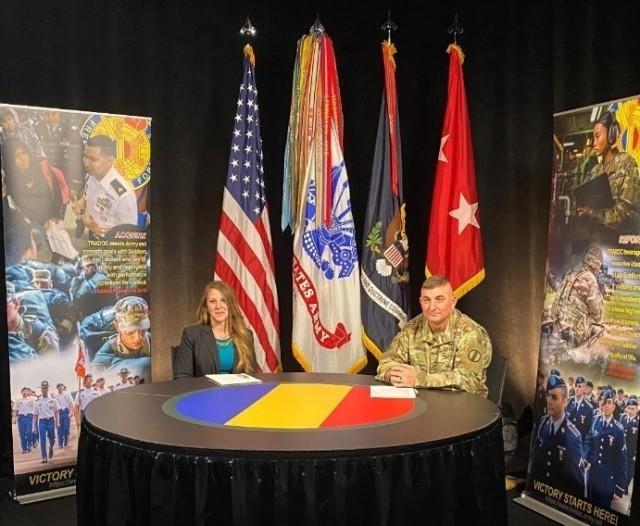 Sarah Hauck, Public Affairs Specialist, and Maj. Gen. Lonnie Hibbard host the LPD webinar.