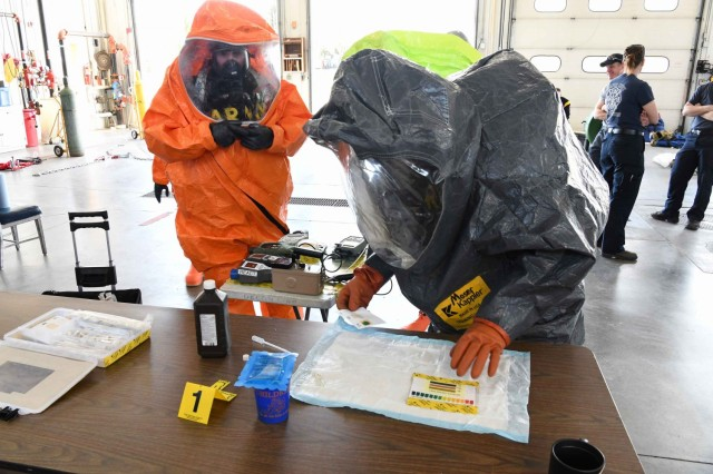 SDNG trains with firefighters on hazmat response