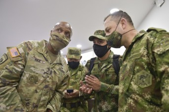 Senior enlisted leaders collaborate in Colombia
