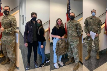 Sisters and brother-in-law follow brother, join Washington Guard