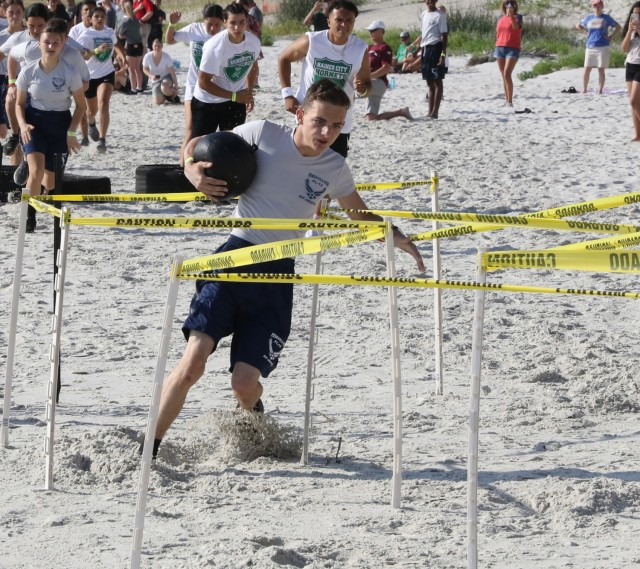 JROTC Cadets from across the country and across the services competed in the National Fitness Challenge Championships May 1 in Daytona, Florida. (Photo by Michael Maddox, Cadet Command Public Affairs)