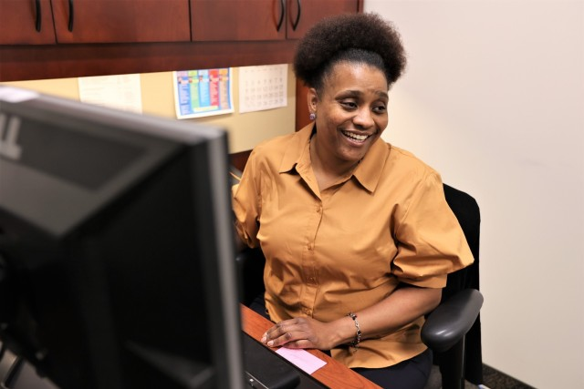 Employment services specialist Summer Carney serves as both the spouse optimization center manager, and also the point of contact for all Spouse employment needs.