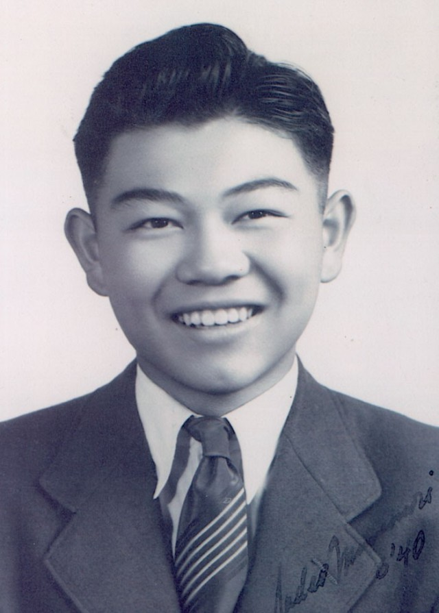 Sadao Munemori smiles in his June 1940 Lincoln High School graduation portrait. He joined the Army during World War II and earned the Medal of Honor for his bravery.