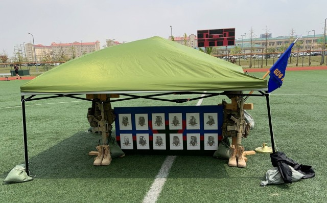 The Tactical Air Control Party Association Memorial display recognizing the fallen TACP members.
