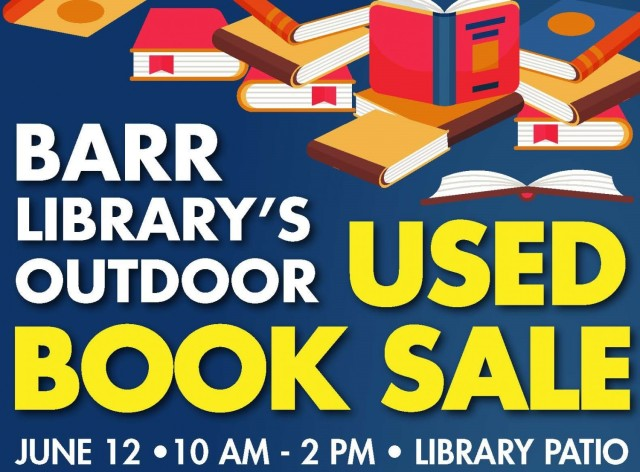 Barr library announces one day only used book sale June 12