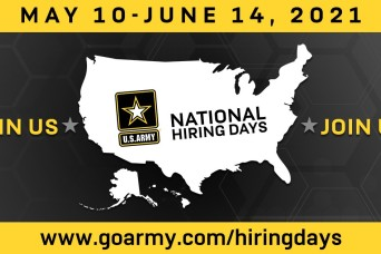 Army National Hiring Days kicks off May 10 with extra $2k bonus