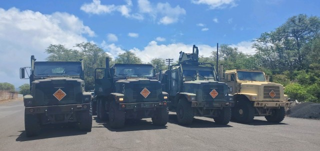 599th Trans. Bde. monitors USMC ammo offload at West Loch
