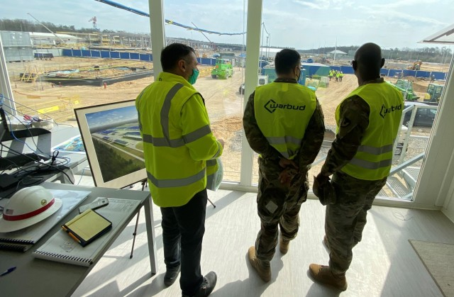 405th AFSB Command Team visits APS-2 construction site in Poland
