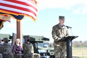 Fort Drum, Army Corps of Engineers officials break ground on new UAS facility