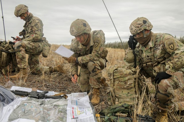 """Paratroopers from 1st Battalion, 501st Parachute Infantry Regiment, 4th Infantry Brigade Combat Team (Airborne), 25th Infantry Division, """"Spartan Brigade,"""" conduct a joint forcible entry operation on Allen Army Airfield, Fort Greely, Alaska, during exercise Northern Edge 21, May 11, 2021. Northern Edge is a U.S. Indo-Pacific Command sponsored, Headquarters Pacific Air Forces led U.S. joint field training exercise scheduled for May 3-14, 2021, in locations in and around Alaska that uses realistic scenarios to improve joint combat readiness. (U.S. Air Force photo by Maj. Jason Welch)"""