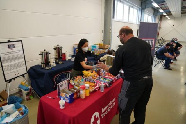 USO Bavaria & American Red Cross assist USAG-Bavaria during Vaccination drive