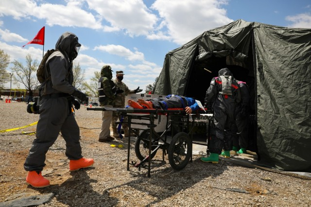 307th Chemical Company Soldiers Providing Decontamination Support
