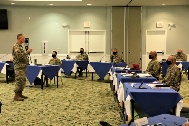 Maj. Gen. Michael Place, commanding general, 18th Medical Command, provided a briefing about the battlefield of the future and how Army medicine will be engaged.