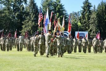 593rd ESC Farewells CG, Welcomes New Commander & CSM