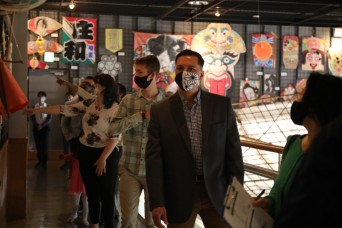 USAG Japan leaders learn local Japanese culture during visit to Sagami Giant Kites Center