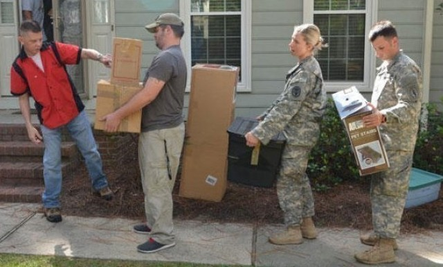 The U.S. Army Garrison Wiesbaden Task Force Surge can help take the stress out of PCS moves.