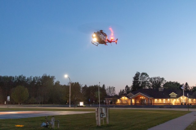 National Guard helicopters train on evacuations with local hospital