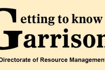 Getting to know the garrison: Directorate of Resource Management