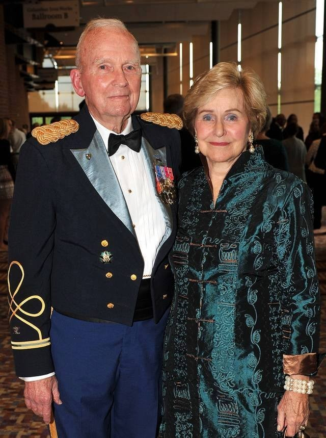 Retired Col. Ralph Puckett with wife Jeannie celebrating his 90th birthday, December 2016. (Photo courtesy 75th Ranger Regiment)