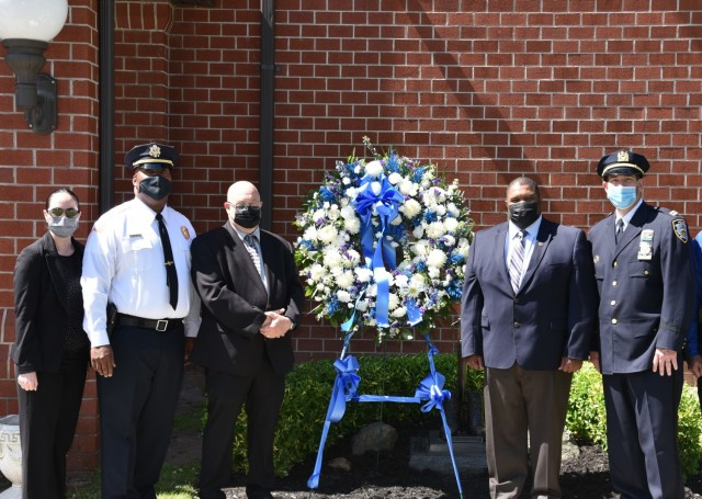 The Directorate of Emergency Serves held a Law Enforcement Wreath Laying Ceremony during National Police Week, May 14, 2021, at Fort Hamilton, N.Y. National Police Week was established by Congress in 1962 to honor members of law enforcement who lost their lives in the line of duty.
