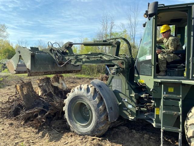 NY Army National Guard Engineers hone construction skills